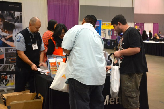 Metro booth at Abilities Expo 2015. (Photos by Joseph Lemon/Metro)